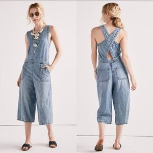 Lucky Brand Cotton Denim Culotte Overall size XS